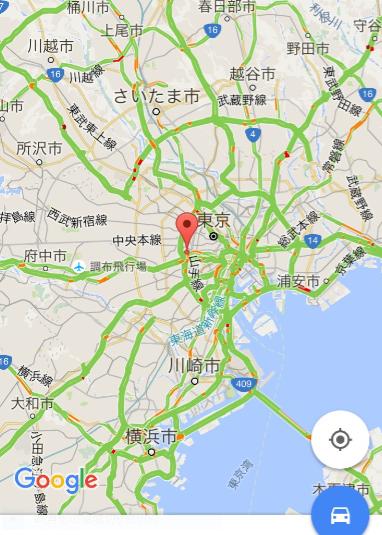 グーグルマップ路線図